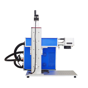 Q Switch 30W 50w Fiber Laser Marking Machine with Motorized Lifting