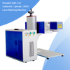 Portable split RF metal tube CO2 laser marking machine 30W 60W