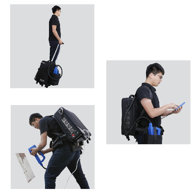 50W The Backpack Style Laser Cleaning Machine